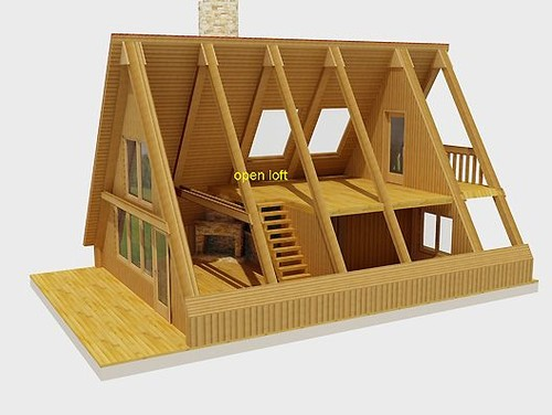 Framing an a frame cabin on a budget for A frame chalet house plans