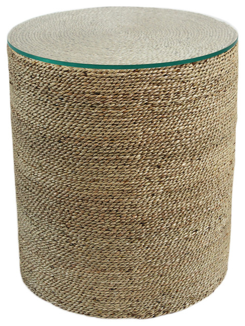 Round Seagrass Rope Side Table Beach Style Side Tables And End Tables By Design Mix Furniture