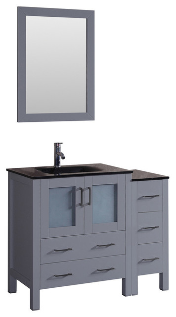 "42"" Bosconi Gray Single Vanity."