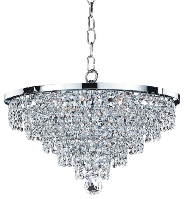 "Empire Crystal Chandelier 16"", Vista 628F Glow"