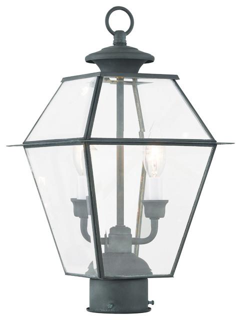 Livex Lighting Westover Charcoal Light Outdoor Post Lantern.