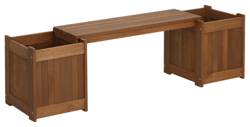Tioman Teak Planter-Box Bench