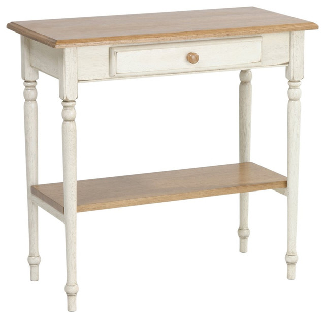 Traditional Foyer Table : Country collection foyer table with drawer and shelf home