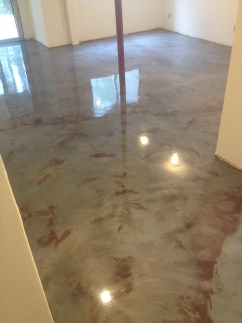 Basement Metallic Epoxy Floor3 Bridgeport By