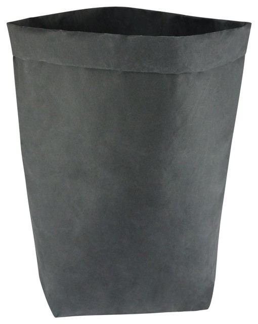 Washable Paper Storage Bag, Black, Large.
