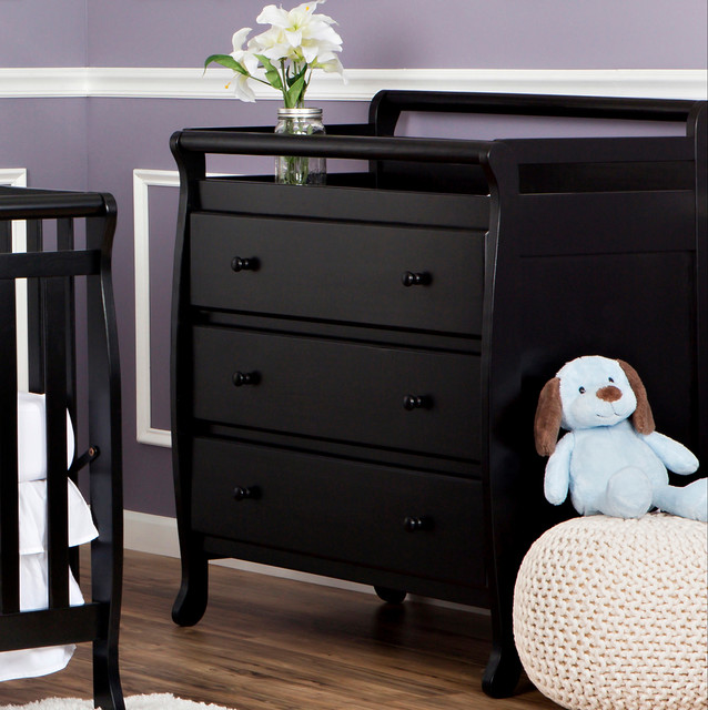 Dream On Me, Liberty Collection 3 Drawer Changing Table, Black