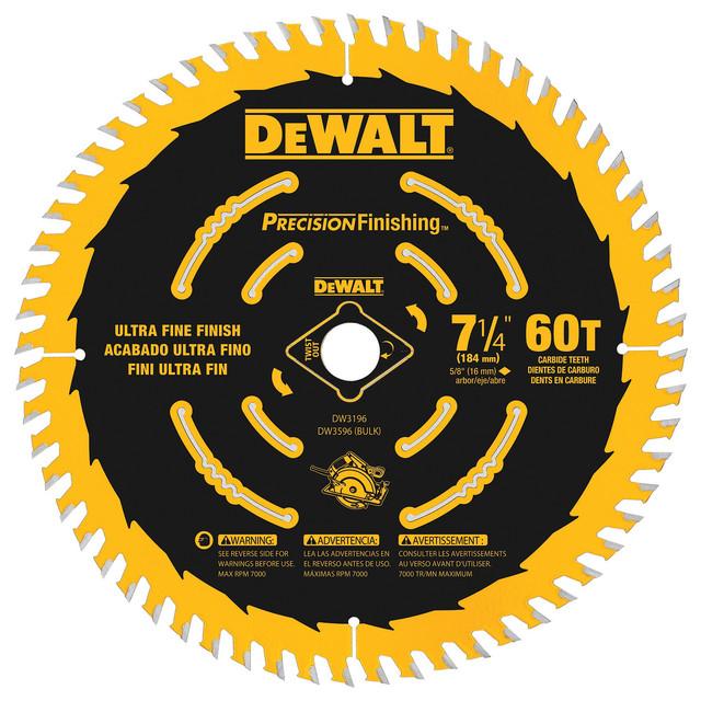 """Dewalt Dw3596b10 7-1/4"""" 60 Tpi Precision Framing Saw Blade"""