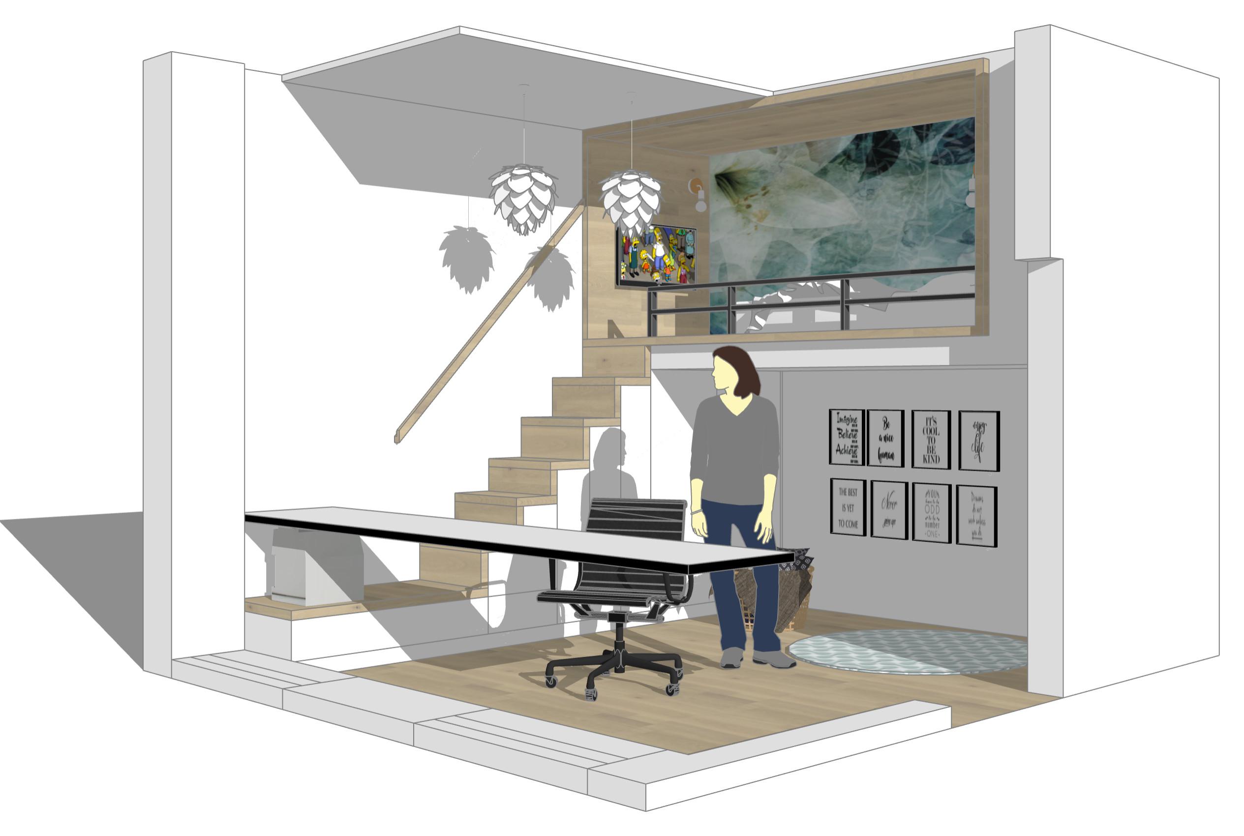 Alternative Gestaltung mit seitlicher Treppe