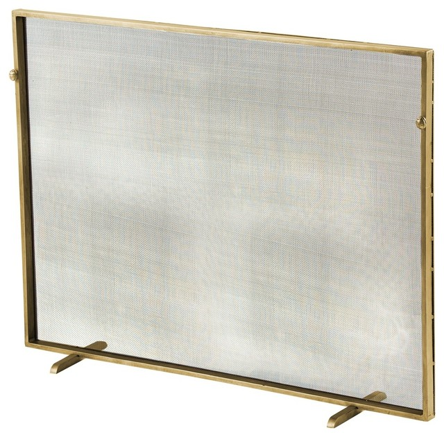 Gita screen contemporary fireplace screens by arteriors home - Choosing the right contemporary fireplace screens ...