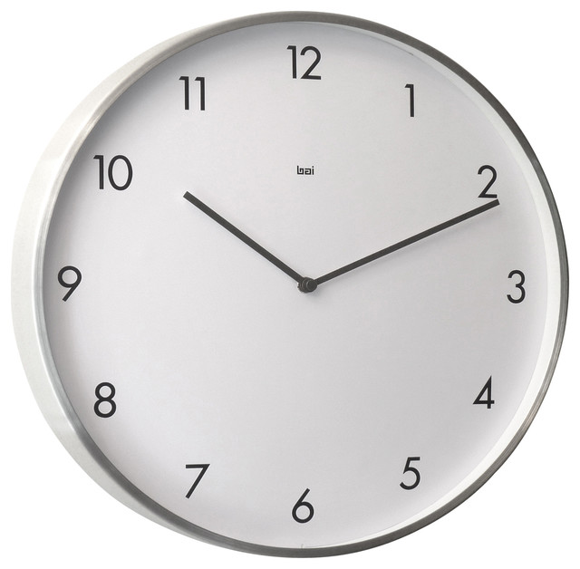 futura designer wall clock brushed aluminum