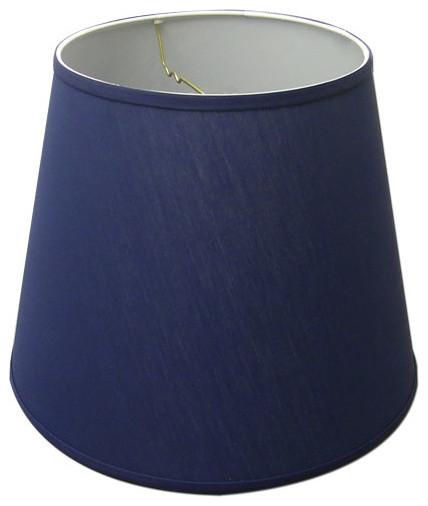 Dark Blue Lamp Shades: Linen Fabric Lampshade, Navy Blue traditional-lamp-shades,Lighting