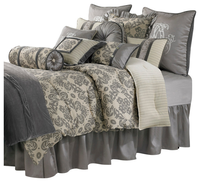 Luxury Kerrington Super King Bedding Set Traditional Bedskirts - California king bedding sets comforters