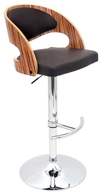 Pino Bar Stool, Zebra Wood/brown.