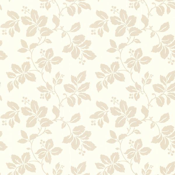Phoebe beige rose leaf trail wallpaper contemporary for Cream rose wallpaper