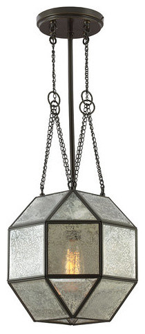 "Sea Gull Lighting 6635404 Lazlo 4 Light 12.25"" Wide Pendant Mercury Glass."