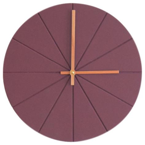 VonHollstein. Wall Clock, Dark Purple