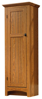 Sauder Select Summer Home Pantry in Carolina Oak Finish - Farmhouse - Pantry Cabinets - by ...