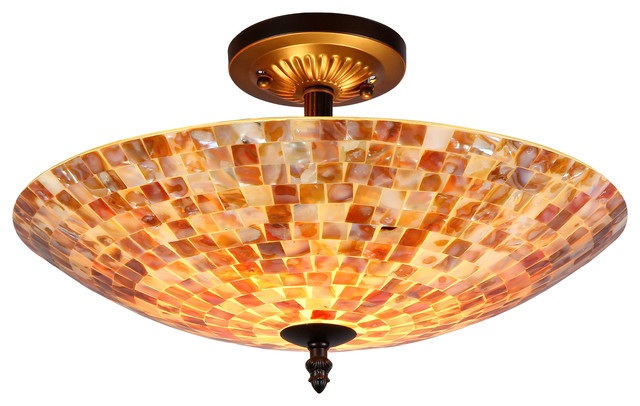 Light Semi Flush Ceiling Fixture