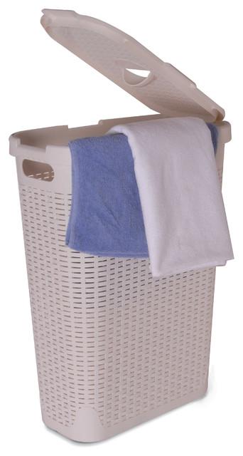 Palm Luxe Slim Laundry Hamper 1 15 Bushel Contemporary