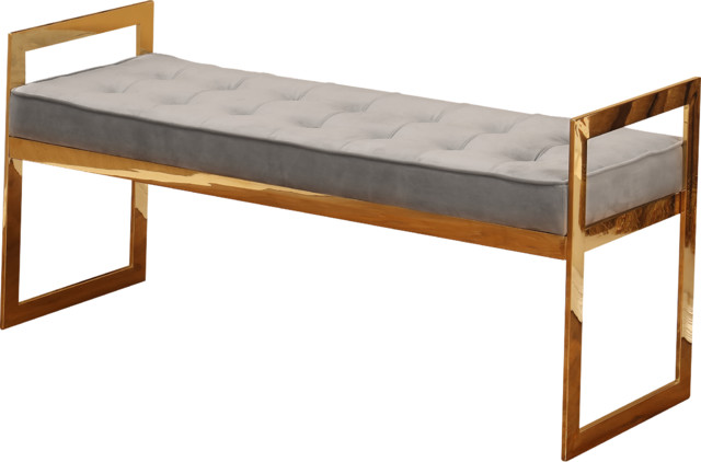 Vienne Tufted Accent Bench Contemporary Accent And