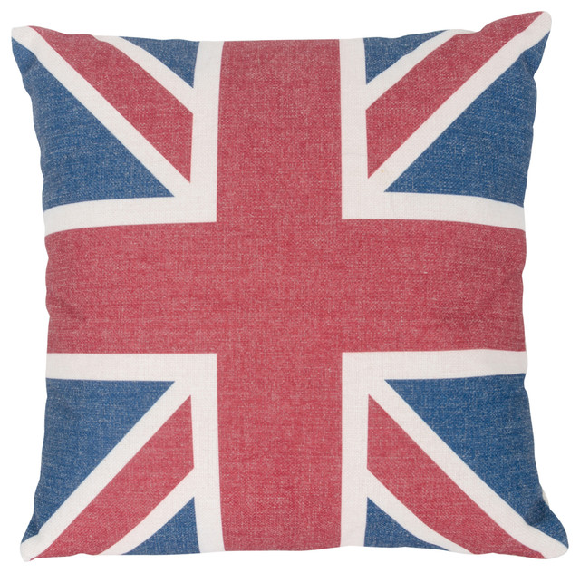 Country Icons Square Throw Pillow Uk Flag