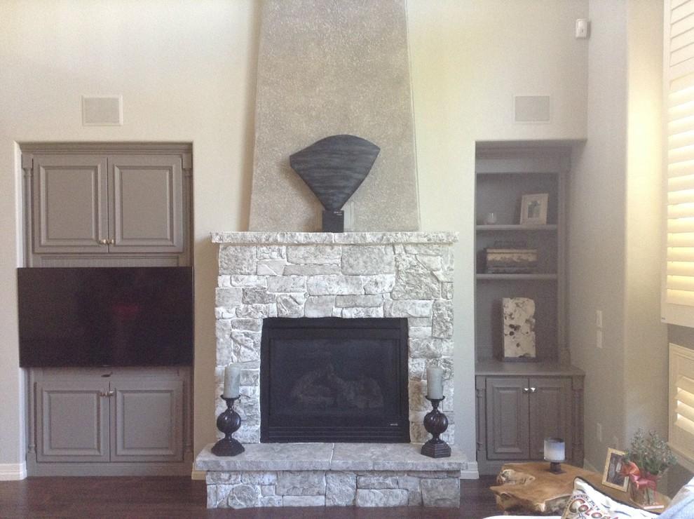 Contemporary Stone Fireplace Painting