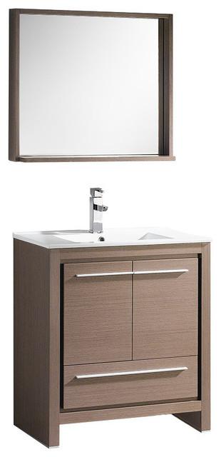 29.5 Single Sink Bathroom Vanity, Gray Oak, Fft1030bn.