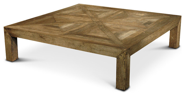 rustic square coffee table Birkby Rustic Lodge Natural Elm Parquet Square Coffee Table  rustic square coffee table