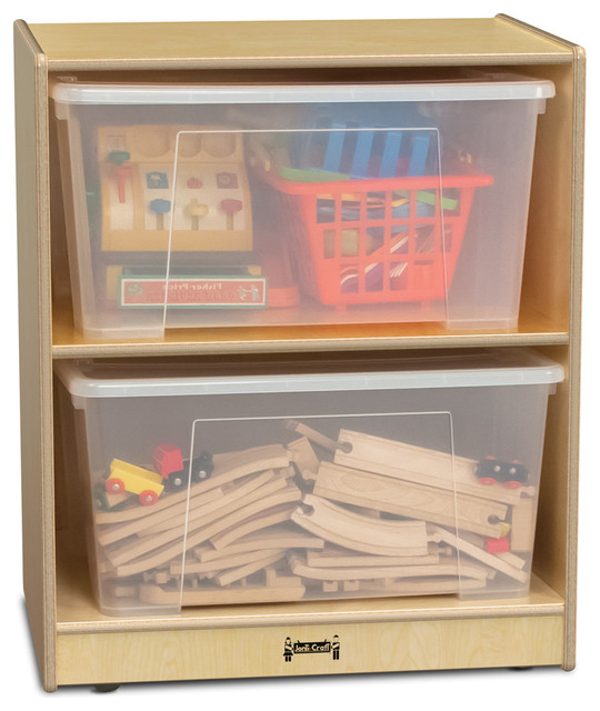 Jonti craft single jumbo tote storage with clear totes for Craft storage boxes with lids