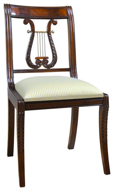 Superb Lyre Side Or Harp Back Side Chair Ncnpc Chair Design For Home Ncnpcorg