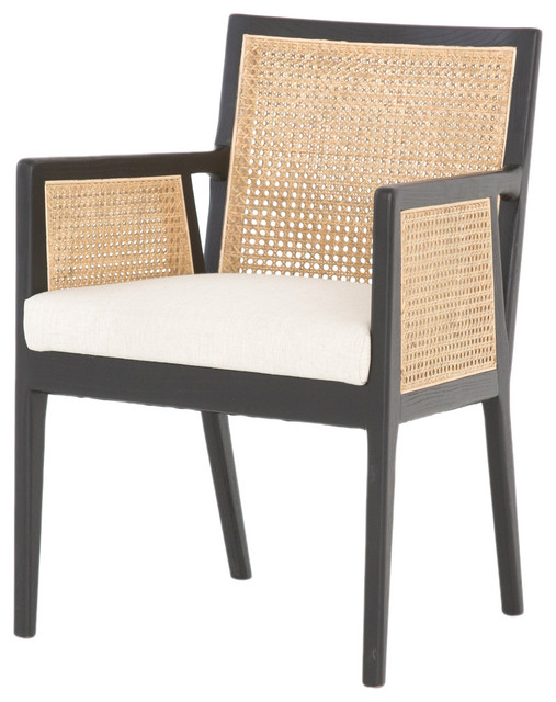 Antonia Cane Dining Arm Chair Tropical Dining Chairs