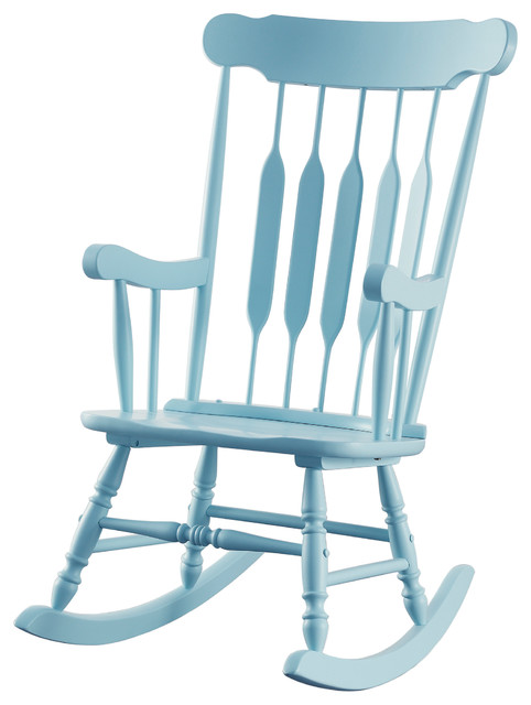 Classic Accent Rocking Chair Arrow Back Wood Track Arms