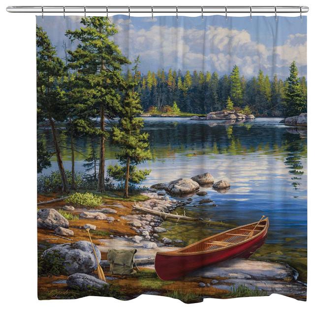 Blue Water Bay Shower Curtain