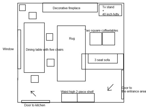 Furniture Arrangement In A Square Living Room