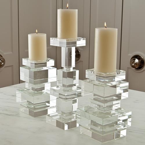 Global Views Brilliant Pillar Holder traditional-candles-and-candleholders