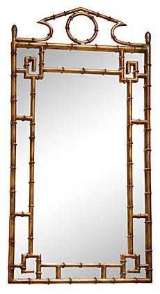 bamboo mirror antique gold - Bamboo Mirror