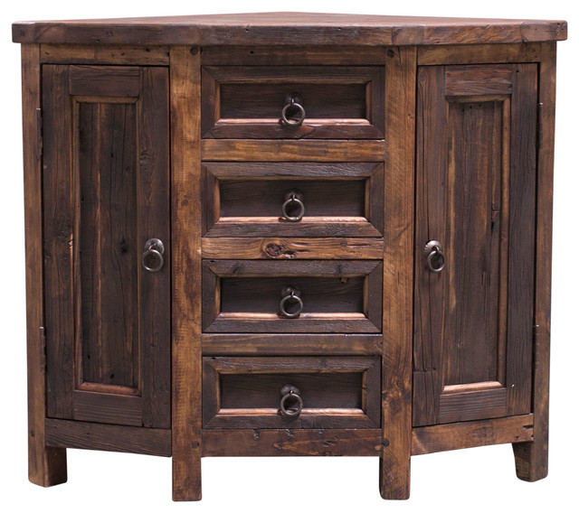 Bellevue Reclaimed Corner Vanity Rustic Bathroom Vanities And Sink Consoles By Foxden Decor Houzz