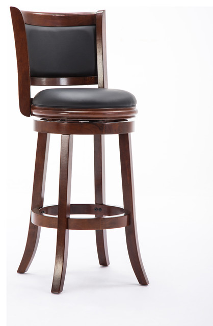 "Augusta Swivel Stool, 29"", Cherry"
