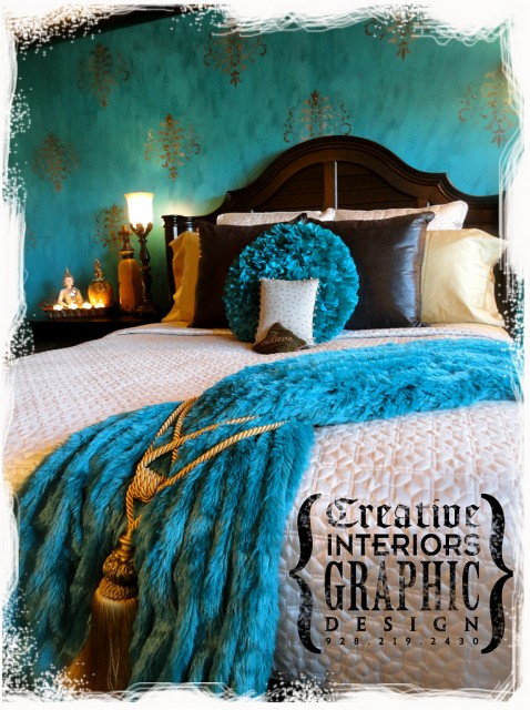 Damask Chic eclectic-bedroom