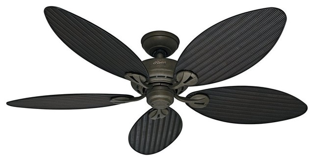 "Hunter 54"" Bayview Provencal Gold Ceiling Fan"