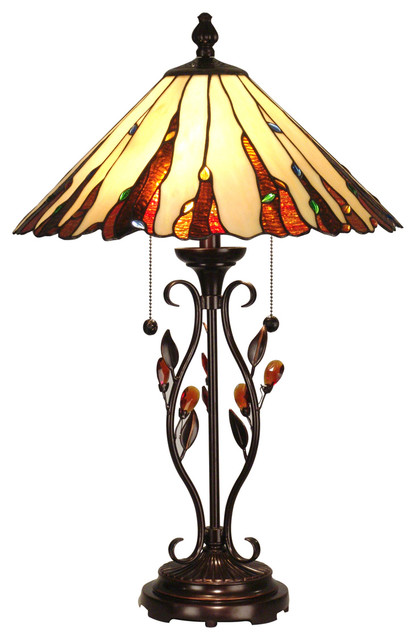 tiffany style table lamps uk dale nature inspired lamp traditional cheap dragonfly for sale