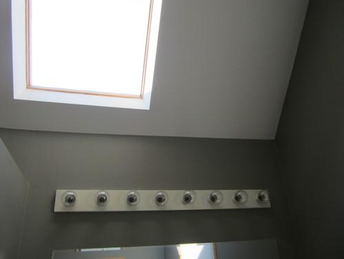 Updating Bathroom Vanity Lights updating bathroom vanity, mirror and lighting