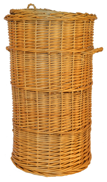Wicker Hamper, Large.