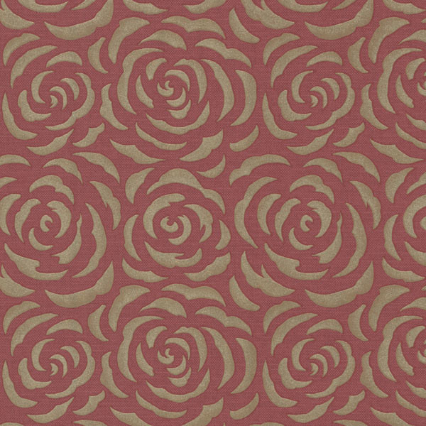 Rosette Red Rose Pattern Wallpaper Bolt