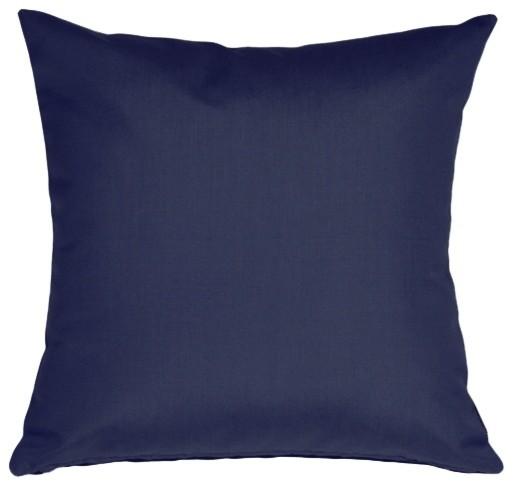 Pillow Decor, Sunbrella Navy Blue Outdoor Pillow, 20x20.