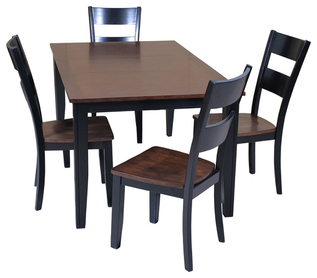 aden five piece dining set distressed light cherry and