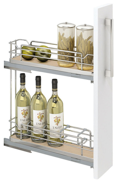 Rev-A-Shelf, Two-Tier Euro Pullout Organizer, Natural, 150mm.