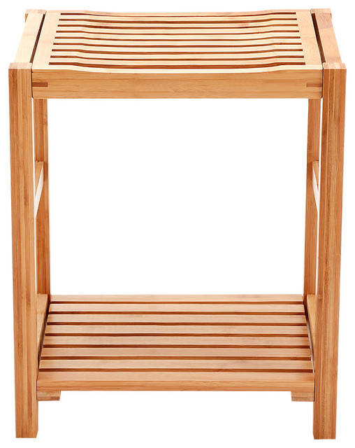 Natural Bamboo Shower Bench Seat
