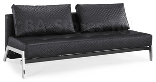 Denmark Black Bonded Leather Sofa Bed Contemporary Futons new york by BA Furniture Stores