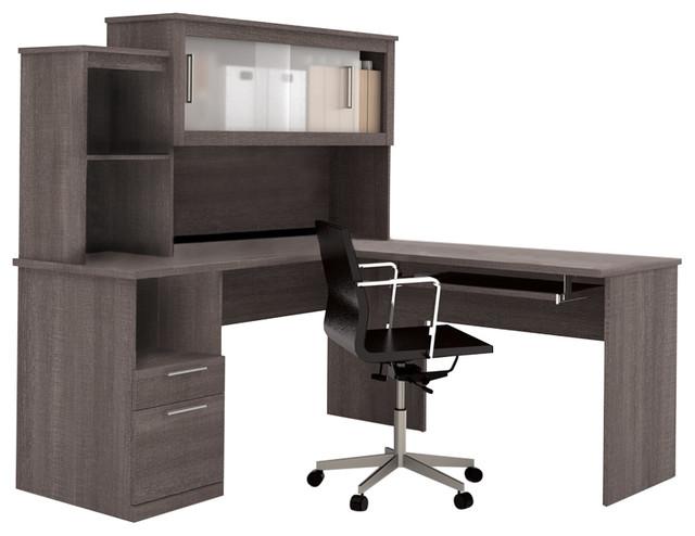Dayton By L Shaped Desk Bark Gray